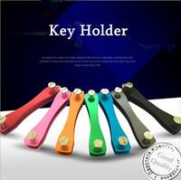 aluminum oxides - Drop Shipping Creative Gifts Popular Keyholder Hard Oxide Aluminum Clip Organizer Car Key Collector Case housekeeper Keychains Keys Holder