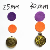 Wholesale jewelry findings mm mm cheap top selling round fabric spacers essential oil perfume necklace pad