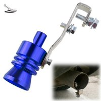 Wholesale New Universal Blue Car Turbo Sound Whistle Exhaust Muffler Pipe Simulator Whistler Size L