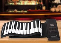 Wholesale PN61S Keys Tones Rhythms Electronic Flexible Roll Up Piano USB and MIDI Port with Speaker for Children