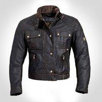 Al por mayor-Steve McQueen El hombre de la chaqueta de la motocicleta de calidad superior cera de la prendas de vestir de los hombres de la chaqueta de la chaqueta roadmaster