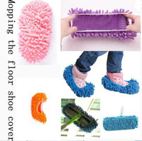 Wholesale Cleaning Floor Slippers Chenille Mop Wipe Shoes Wigs House Home Cloth Clean Shoe Cover Multifunction Lazy Shoes H066