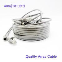 Câble de réseau vidéo RJ45 Cat5e de haute qualité Câble de connexion CC 12V Câble combiné 5mm combiné de ligne dédiée 40m pour la caméra IP Array