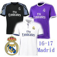 Wholesale Customized Thai Quality New Season Real madrid Soccer Jerseys RONALDO Jersey Shirt Home White Away Puple BENZEMA