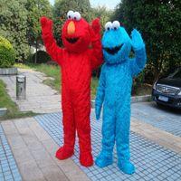 Wholesale Sesame Street Blue Cookie Monster Mascot blue Elmo costume Fancy Dress Adult size Halloween