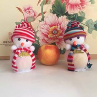 Wholesale Snowman Christmas Eve Wedding Favour Candy Bag Gift Apple Candy Bags Wrapping Papers Fruit Christmas Bag