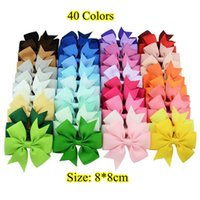 barrettes for kids - Hair Bows Hair Pin for Kids Girls Children Hair Accessories Baby Hairbows Girl Hair Bows with Clips Flower Hair Clip F564 Hot Colors