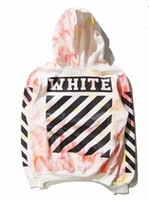 Wholesale Off White Tie dye Mens Sweatshirts Striped Skateboard Tracksuits Streetwear Hip Hop Swag Hoodies Sweatshirts palace Skateboard Pullover jack