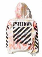 Wholesale Off White Tie dye Mens Sweatshirts Striped Skateboard Tracksuits Streetwear Hip Hop Swag Hoodies Sweatshirts palace Skateboard Pullover jack
