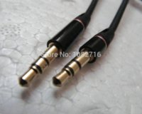 audio input cord - 2 black Double end male Straight mm Pole stereo Headphone Connect cable audio cord car AUX input cm
