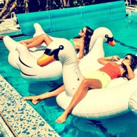 Wholesale White New Summer Lake Swimming Water Lounge Pool Kid Giant Rideable Swan Inflatable Float Toy Good Quality