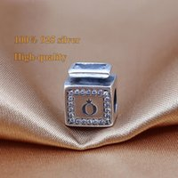Wholesale 2016 New Sterling Silver Signature Scent Perfume Bottle Charms with AAA CZ For Beads Bracelet DIY Jewelry Making