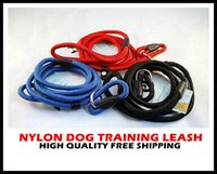 Wholesale Nylon Rope Dog whisperer Cesar Millan style Slip Training leash lead and collar