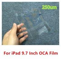 Precio de Envío libre del iphone de la manzana-Piezas de reparación adhesivas de la pantalla del palillo de la etiqueta engomada a estrenar de la cinta de la película de 9,7inch 250um OCA para el envío libre del aire 2 del iPad