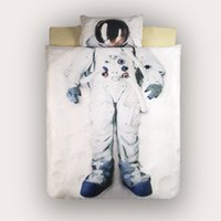 astronauts for kids - Autumn D astronaut bedding set duvet cover bed shee twin single bedding fittled sheet birthday gift for kids spacesuit printed