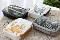 Wholesale Japanese Style zakka printed food grade Plastic PP Microwave Oven Bento Lunch Box Meal Boxes thermos Container sandwich box container