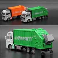 Wholesale Kids Toy Alloy Pull Back Sanitation Engineering Vehicle Simulation Garbage Truck Model Gift for Children Toys For Gift