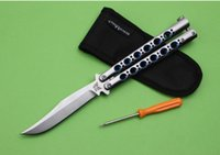 Wholesale The one Benchmade BM43 Titanium Balisong Bowie Butterfly Knife BM42 BM63 survival knife tactical knife knives nylon sheath retail box