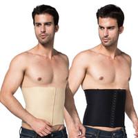 Wholesale Mens Body Slimming Abdomen Waist Shaper Girdle Cincher Belt Burn Fat Corset Underwear Bodysuit New Freeshipping