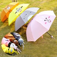 Wholesale New Arrival Cute Fashion Kawaii Cartoon Totoroo Bear Minions Rabbit Umbrella Dome Parasol Sun Rain Folding Lady Women Umbrella