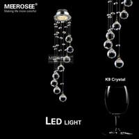 Wholesale 3 watt LED Crystal Chandelier Light Fixture Spiral Crystal lustre Lamp Crystal Light for Aisle Hallway Porch Staircase Lighting