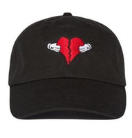 album silver - RARA Kanye west Heart break album logo with colb by kaws dad hat drake snapback baseball cap