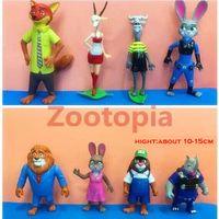 Wholesale In business styles zootopia figures Rabbit Judi Fox Nick role figure crazy animal City metropolitan zootopia animal model doll Utopia