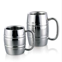 bamboo ware - Good Quality metal drink ware cups for beer coffee tea mug Double wall Bamboo pattern stainless steel mug and cup
