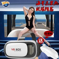Wholesale NEW Google cardboard VR BOX II Version VR Virtual Reality D Glasses For inch Smartphone