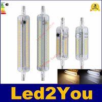 78mm 118mm R7S Lampe LED 10W 20W SMD3014 AC110-240V LED R7S ampoule à économie d'énergie haute luminosité parfaite Remplacer lampes halogènes