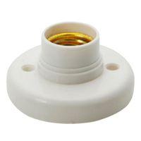 Wholesale 1pcs E27 lamp holder Round Lamp Bulb Socket Bases White lamp holder flame retardant PBT