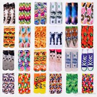 ankle socks shop - Hot Selling Topshop3D Printing Socks In Tube Socks Tide Couple Foreign Selling Christmas Socks Printing Free Shopping