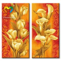 Wholesale Gold Flower DIY Painting Baby Toys x80cm Infant Canvas Oil Painting Kids Drawing Toys Set for Family Gift