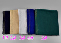 Wholesale 5pcs muslim jersey colors Hijabs for women diamond accessories islamic Hijabs women s scarves YW02 volie