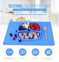 Wholesale New Silicone Children Plate Placemat BPA Free FDA Approved Food Grade Silica Gel Bowl One piece Dishes for Kids Toddlers Baby Plate
