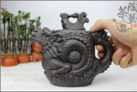 big clay pots - Authentic yixing teapot dragon and phoenix tea pot ml big capacity purple clay tea set kettle kung fu teapot