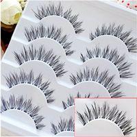 Wholesale 5 Pairs Pretty Cross False Eyelashes Makeup Natural Fake Eye Lashes Handmade
