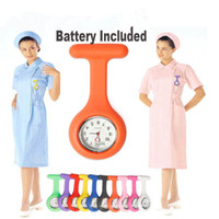 Wholesale Cute Silicone Nurse Brooch Tunic Fob Watch Nursing Nurses Pendant Pocket Watch Tunic Quartz Movement Watch Battery Included NAR093