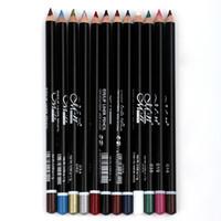 Wholesale M N MENOW MEINUO Eye Liner Combination pencil Makeup Pencil Eyeliner Pencil Cosmetic Eyes Beauty two headed eyeliner Black Coffee