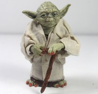 Wholesale Star Wars cm Jedi Knight Master Yoda Action Figure toys for christmas gift