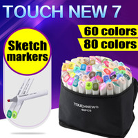 Wholesale 60 Artist Double Headed Marker Set Mark Pen manga Animation Design Paint Sketch Copic Markers for Drawing