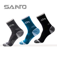 Wholesale 2016 New Fashing Men s semi thick outdoor Merino wool warming socks for Outdoor Sports Climing Running Compression Happy Socks