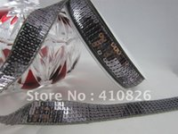 Wholesale 15yards inch mm color number thistle dark gray sequin ribbon for non slip hair accessory