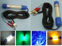 Wholesale 5pcs DC12 V W Green Blue White Yellow LED Underwater Fish Attracting Light Fishing Boat Light Underwater Marine LED Light