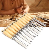 Cheap 12PCS Professional Wood Carving Hand Chisel Tool Set Woodworking Lathe Gouges Tools For Carpenter Woodwork Hobby