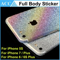 apple bumper sticker - iPhone7 Full Body Magic Film Sticker Bling Glitter Power Sticker For iPhone S Plus Front Back Bumper Skin Shield Protector DHL