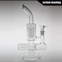 armed cheap - Arm Tree Perc Hand Blown Glass Water Pipe Straight Base Cheap Smoking Pipes mm Joint Tree Percolator Bong percs Transparent HFY1031