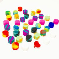 Wholesale small cylinder shape oil slick silicone jars dab wax container containers ML silicone jar mmX17mm