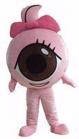 advertising colleges - Cute Black Eyeball Mascot Costume Adult Health Eye Theme Eyeball Pupil Girl Mascotte Fancy Dress for College School Advertising SW1841