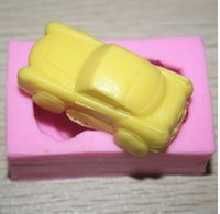Wholesale Car toy transporation Silicone D Mold Cookware x4x2 cm Non Stick Cake Decor Fondant biscuit Mold soap chocolate Mold A225